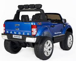 metallic blue jeep ford ranger wildtrak 2017 4wd licensed 24v electric ride on jeep