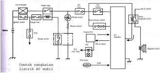 diagram kelistrikan ac mobil diagram