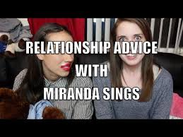Overbearing Girlfriend Meme - relationship advice with miranda sings youtube