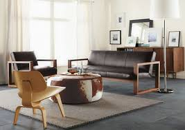 Room And Board Leather Sofa Cowhide Ottoman Is The Best For Living Room Decor Living Room