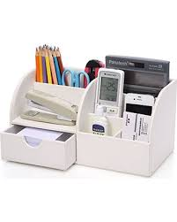 White Desk Organizer Sweet Deal On Kingom 7 Storage Compartments Multifunctional
