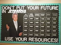 jeopardy bulletin board inspire residents to know their