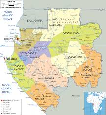 Africa Political Map by Detailed Clear Large Map Of Gabon Ezilon Maps
