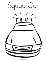 squad car coloring page twisty noodle