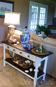 Sofa Table Decor by Painted Sofa Table Stonegable
