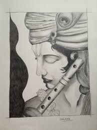 pencil sketch of little krishna beautiful pencil color sketch of