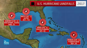 Where Is Puerto Rico On The Map For First Time Since 2005 Four Hurricanes Make U S Landfalls In