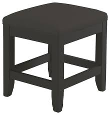 bedford vanity bench black transitional vanity stools and