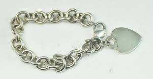 tiffany silver bracelet with heart images Tiffany co sterling silver bracelet 7 1 2 quot heart tiffany co jpg