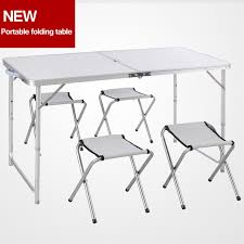 lightweight folding table and chairs portable cing table set folding picnictable and chairs
