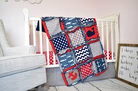 Nautical Crib Bedding Nautical Boys Crib Bedding For Baby Nursery Navy Blue