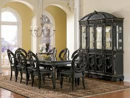 Black Formal Dining Room Set - Black dining room table