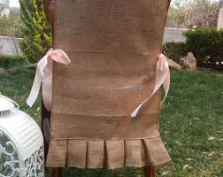Ruffled Chair Covers Burlap Chair Covers Etsy