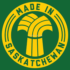 Saskatchewan Flag Made In Saskatchewan Logo Gold U0026 Green