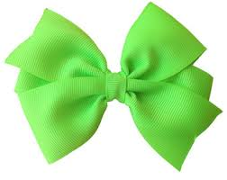 lime green bow etsy