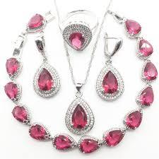 rose zircon necklace images Buy heart rose zircon silver 925 costume jewelry jpg