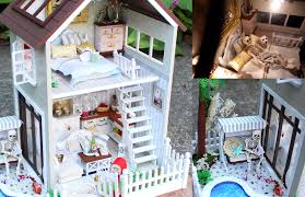 diy miniature doll house full set with lights bedroom kitchen diy miniature doll house full set with lights bedroom kitchen living room pool youtube
