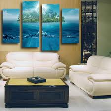 Canvas Without Frame 4 Pcs Large Hd Wall Paintings Dream Island Summer Style Wedding