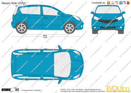 nissan note 2013 the blueprints com vector drawing nissan note