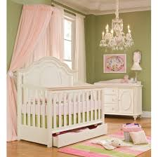 Pink And Green Nursery Decor Beautiful Parquet Flooring And Green Wall Painting Room With White