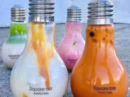 light bulb bubble tea bar cafe brings light bulb boba tea to san jose