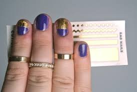 cool ways to hide chipped or grown out nail polish