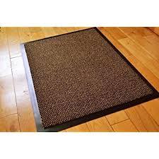 small brown black door mat rubber backed runner barrier mats rug