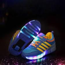 light up roller skate wheels casual kids roller skate shoes children light up shoes glowing girls