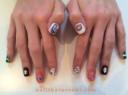 superbowl fanicure for the denver broncos nail that accent