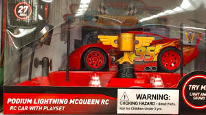 new disney cars 3 toys hunt lightning mcqueen mini rc u0026 podium