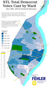 Election Map Results by Saint Louis City 2016 General Election Results By Ward Nextstl