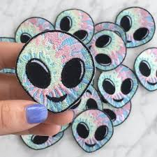 iron on patch patches embroidered applique pastel tie