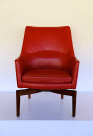 high back leather swivel lounge chair by jens risom for sale at