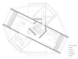 the interlace floor plan moon hoon completes web like private residence on jeju island