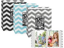 photo album 4x6 100 photos 4x6 chevron cloth album w frame
