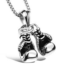 stainless mens necklace images Men 39 s necklace and stainless steel pendant pair of boxing gloves jpg
