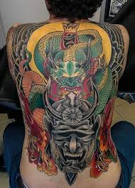 finished dragon and samurai back piece by adam sky rose gold u0027s