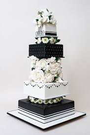black and white wedding and white wedding cakes