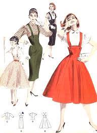 1950s rockabilly slim or full skirt pattern butterick 7722 retro