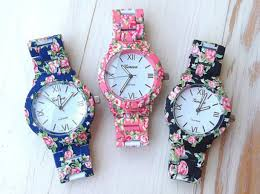 pink bracelet watches images Jewels watch geneva watch bracelets floral flowers pink jpg