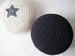 black ottoman pouf nursery foot rest pouf nurserydecor black
