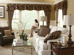 Modern Valances For Living Room by Classic Luxurious Living Room With Brown Leather Club Chair And