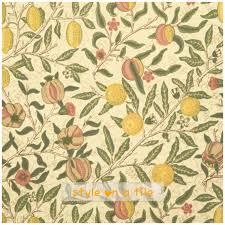 lovely william morris fruit design small ceramic tile drink