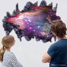 new 3d the milky way space three dimensional wall stickers bedroom new 3d the milky way space three dimensional wall stickers bedroom tv background wall stickers wall stickers for kids rooms sports wall stickers star