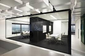 office interior interior designs beautiful modern black white glasses wall office