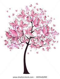 vector floral tree birds butterflies stock vector 59867122