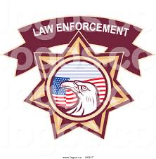 Flag Law Royalty Free Vector Of A Law Enforcement Bald Eagle And American