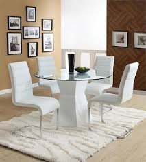 white round dining room tables 45 lynelle white round glass top dining table with white base