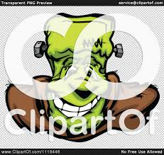 cartoon of a halloween happy frankenstein face royalty free
