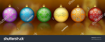 rainbow colored ornaments stock photo 89049061